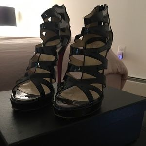 Christian Louboutin strappy heels 38.5